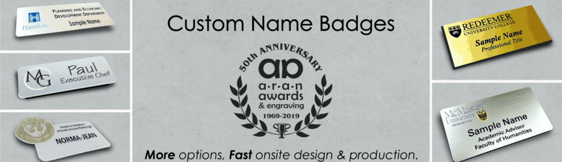 Custom Name tags Banner