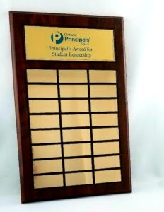 Annual Plaque with with 24 engraved plates
